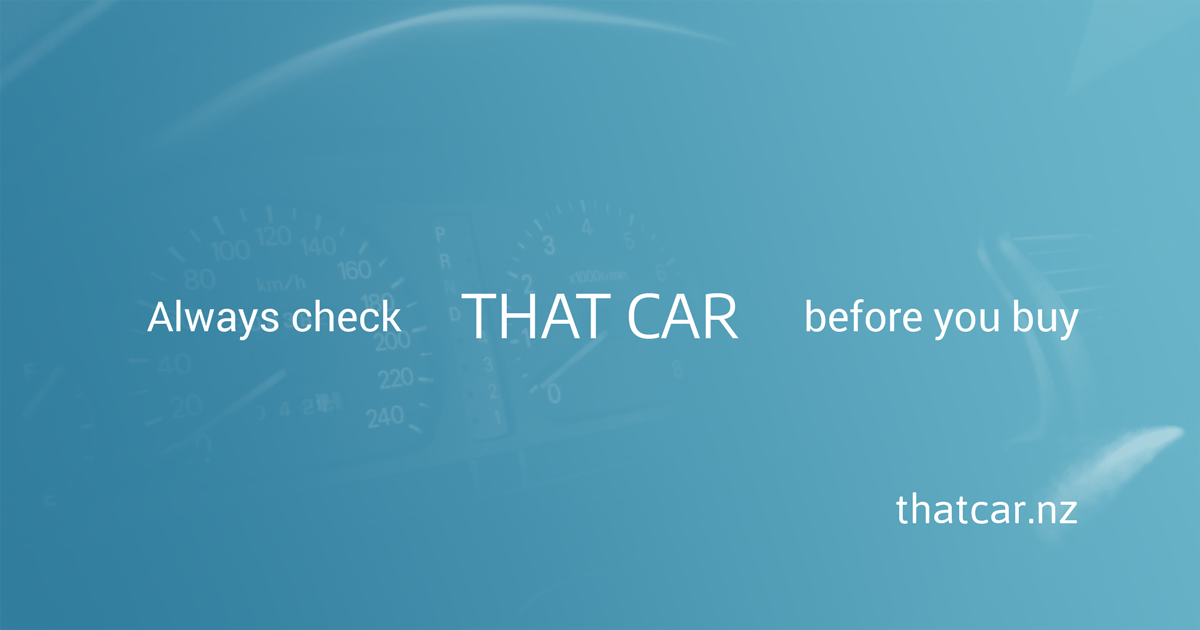 Vehicle ownership check in New Zealand | THAT CAR™ NZ 🇳🇿